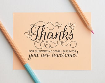 Thank you you are awesome stamp, Thank You Stamp, Business Stamp, Order Stamp, Packaging Stamp, Calligraphy Thank you, Small Business Stamp