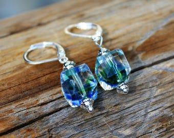 Lake View (Blue, Green) earrings