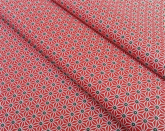 Fabric Saki Japanese pattern star Asanoha - dimension for 1 quantity 50 cm x 160 cm - 100% cotton