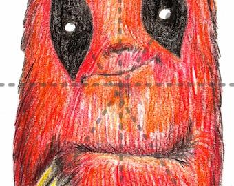 Deadpool Sloth: 5x7 Print
