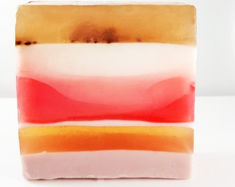 Heavenly Bar Soap  / Exfoliation From Organic Cranberrey Seeds / PHTHALATE-FREE / Vegan / Gluten free