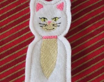 Kitty finger puppet - Cat finger puppet - Embroidered Finger Puppets -  Easter finger puppets - Compliant Finger puppet -  Compliant toy