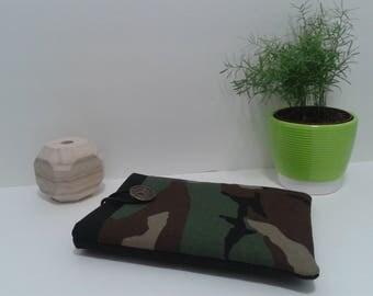 IPad Tablet case. Black Camo waterproof. IPad sleeve.  Kindle Sleeve. Sony Ereader sleeve. Tablet sleeve. Tablet case.