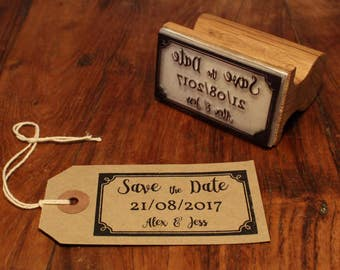 Personalised Save the Date Stamp