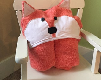 Children's Hooded Towel; Fox Hooded Towel