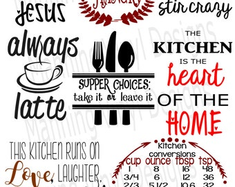 kitchen digital svg file, digital download, kitchen towels digital file, cuttable file