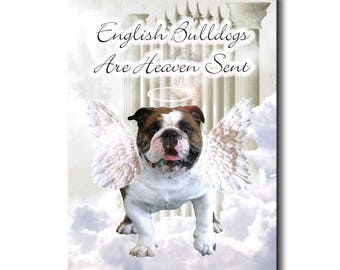 English Bulldog Heaven Sent Fridge Magnet No 1