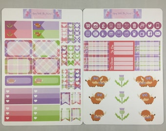 Scottish Highland cows ,To fit Personal size, A5 and many more layouts of planners.