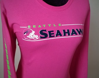 Seattle Seahawks Breast Cancer Awareness Tee (Long Sleeve)