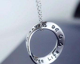 Be Brave, Live Life Necklace