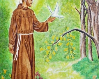St. Francis of Assisi and the doves