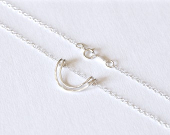 Sterling double wire necklace
