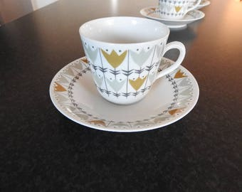 Reservation  by CT/////Rörstrand Sweden Lill, coffee cups, saucers /mid century modern
