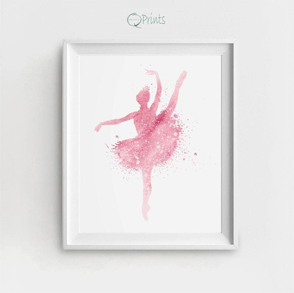 ballerina art print digital ballerina ballerina printable