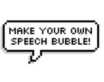 Choose your own individual speech bubble stickers! Tumblr style