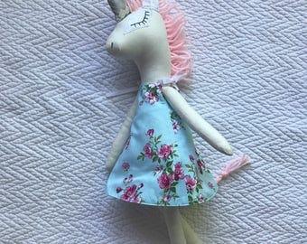 Handmade Unicorn Doll - Toy - Nursery Decor