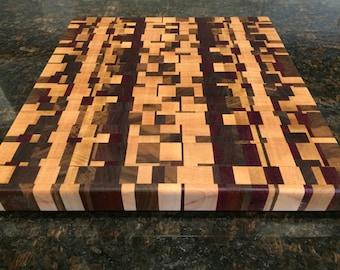 Multiple Hardwood End Grain Cutting Board