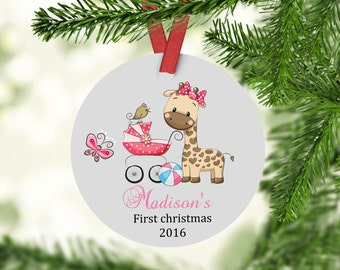 Baby's First Christmas - Mommy and Daddy First Christmas Custom Ornament - Personalized Christmas Ornament - Baby Ornament