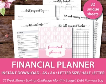 Budget Binder, Financial Planner, Budget Planner, Financial Planner Inserts, Financial Binder, Budget Printable