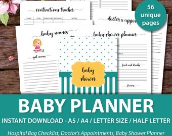 Baby Planner, Pregnancy Journal, Pregnancy Planner, Baby Journal, Baby Memory Book, Bump Book, A4/A5/Letter Size/Half Letter