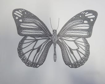 Original butterfly drawing