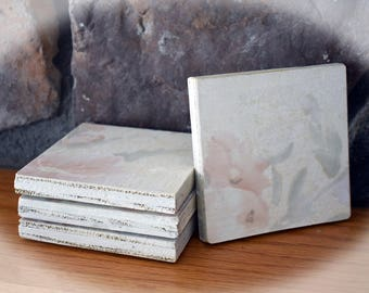 Shabby Chic Wooden Floral Coasters