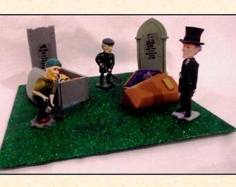 Ornamental Graveyard Scene ~ Handmade