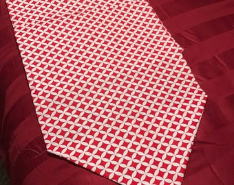Red and White Table Runner