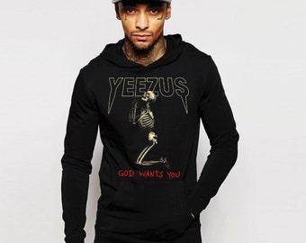Kanye West Yeezus Hoodie New God Wants You