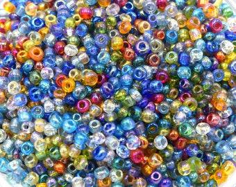 15g pearls rock glass round 2mm bronze PR2016010