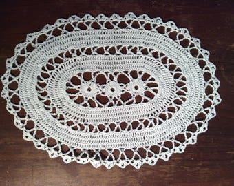 Doily, handmade, oval