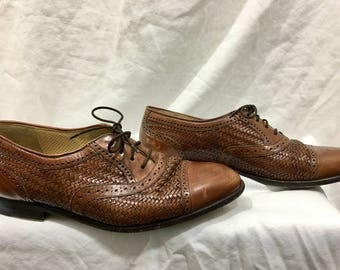 Vintage Handmade Leather Oxford Womens