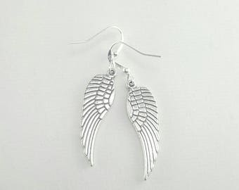 Wing Earrings, Angel Wing Earrings, Silver Wings Earrings, Clearance Earrings, Discounted Earrings, Clearance Jewelry, Discounted Jewelry