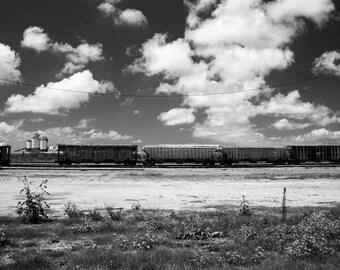 Black + White Train