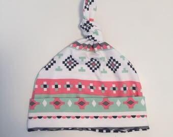 baby girl 0-3 months Hat knothat beanie hat, newborn hat, newborn