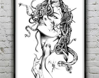 Medusa - Reflection - Art Prints