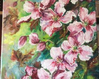 Flowers, Original, oil on canvas frame, Impressionist