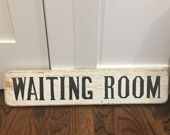 Waiting Room Sign Etsy