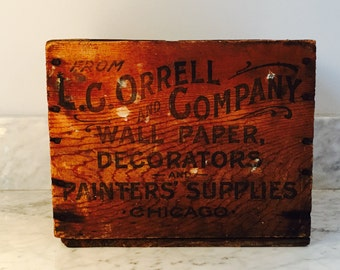 Fantastic Small Sized Wood Crate from early 1900's