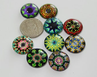 Multi colored Time gem cabochons