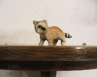 Dollhouse Raccoon Miniature Racoon Figurine Vintage w/ free ship