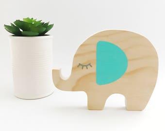 Elephant wooden decor
