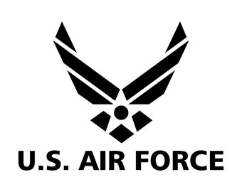 Air force decal | Etsy