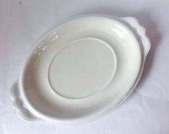 Antique White Ironstone Platter By T&R Boote Late 1800's
