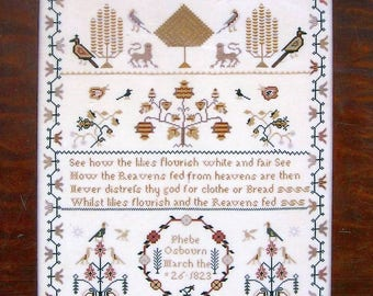 Phebe Osbourn by Primitive Traditions Counted Cross Stitch Pattern/Chart