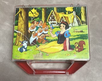 Vintage 12 Piece 6 sided Disney Block Puzzle with case