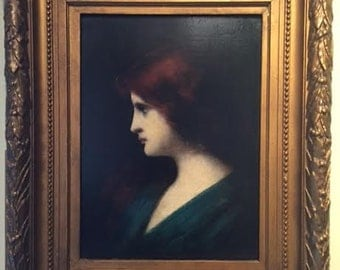 "Jean Jacques Henner, ""Young woman with red hair"""