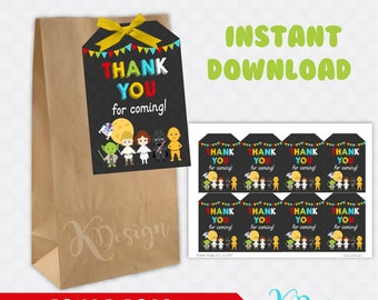 Star Wars Favors Tags Printable, Birthday Favors, Party Favors