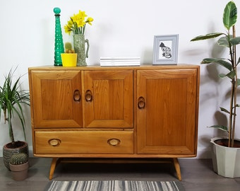 SOLD   Ercol Sideboard - Splayed Legs - Retro 60s - Refinished