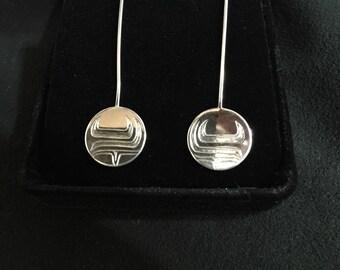 Salmon Earrings in sterling silver